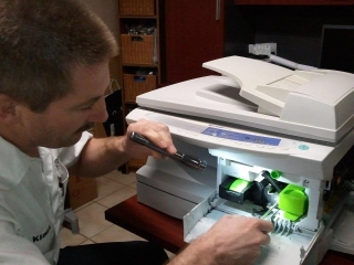 Printer repair in our shop.